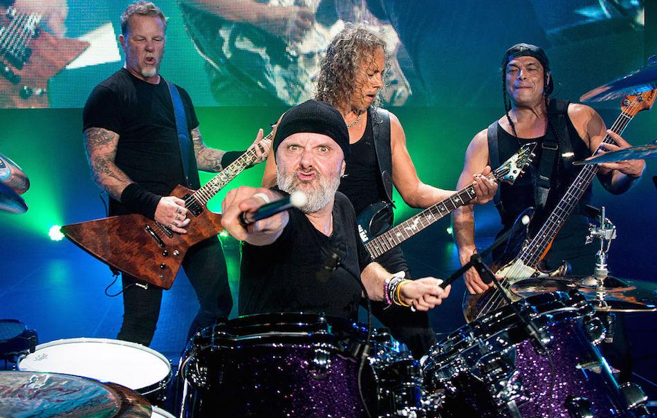 I Metallica durante un live a Puerto Rico, foto di Jeff Yeager/Metallica/Getty Images)
