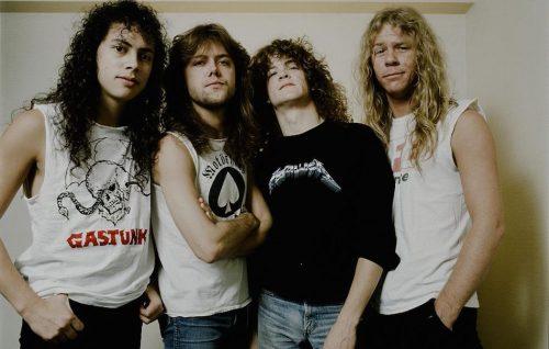 Metallica nel 1986 a Tokyo, foto di Koh Hasebe/Shinko Music/Getty Images