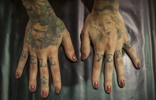 Le mani di Monique Peres, Tattoo Expo Bologna - Foto di Michele Lapini