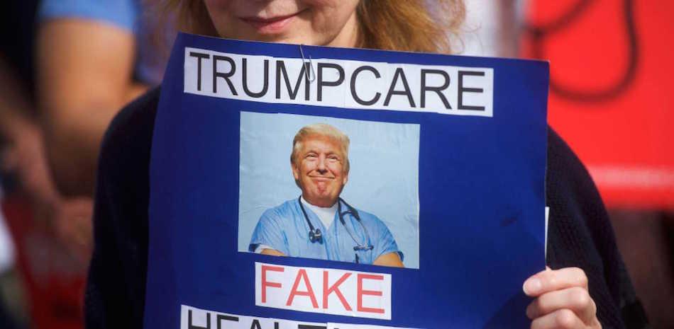 Le proteste contro la nuova riforma sanitaria proposta dall'amministrazione Trump. Foto di Mark Makela/Getty Images
