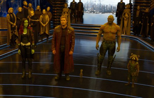 Chris Pratt e Zoe Saldana: «I Guardiani della Galassia sono tornati»