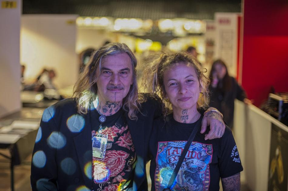 Marco Leoni e Genziana Cocco, gli organizzatori della Tattoo Expo di Bologna - Foto di Michele Lapini