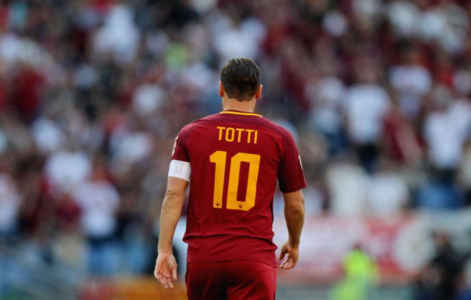 Roma, 28 maggio 2017, l'ultima partita di Francesco Totti. Foto di Paolo Bruno/Getty Images