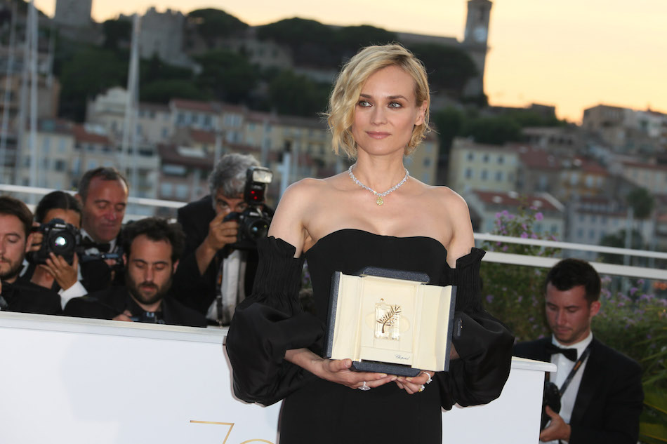 Diane Kruger premiata come miglior attrice alla settantesima edizione del Festival di Cannes. Foto di Tony Barson/FilmMagic