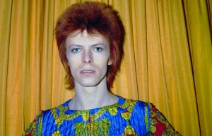 David Bowie in versione Ziggy Stardust a New York nel 1973. Foto di Michael Ochs Archives/Getty Images
