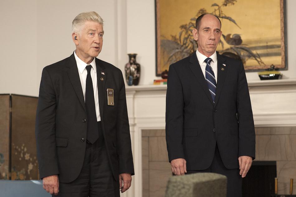 David Lynch e Miguel Ferrer in una scena di 'Twin Peaks'. Foto di Suzanne Tenner/SHOWTIME