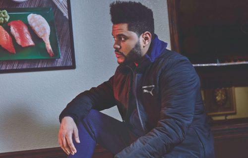 The Weeknd in uno scatto della campagna per Tsugi Netfit