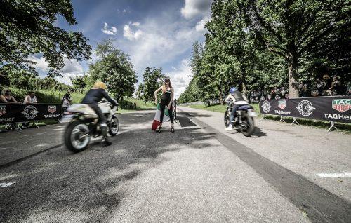 Un momento della gara di accelerazione TAG Heuer Sprint Race durante The Reunion 2017, a Monza - Foto Stampa