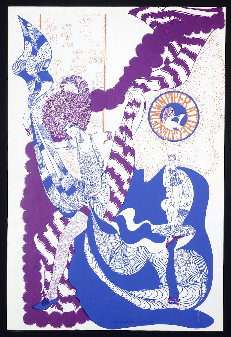 Poster per il lancio dell'album Piper at The Gates of Dawn dei Pink Floyd del 1967
