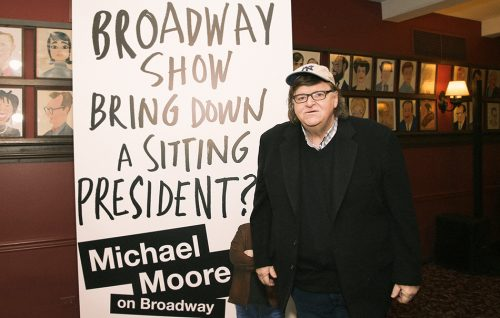 Michael Moore al lavoro su un documentario su Donald Trump