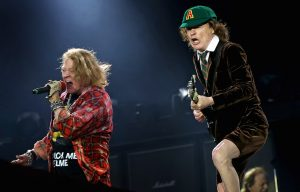 Axl Rose Angus Young Guns N Roses AC/DC