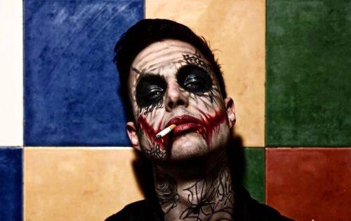 Joker Boy, tatuato su tutta la faccia dal noto artista spagnolo Rodrigo Galvez, è tra gli ospiti dell'International Tattoo Show di Riccione - Foto di CJ Clemente