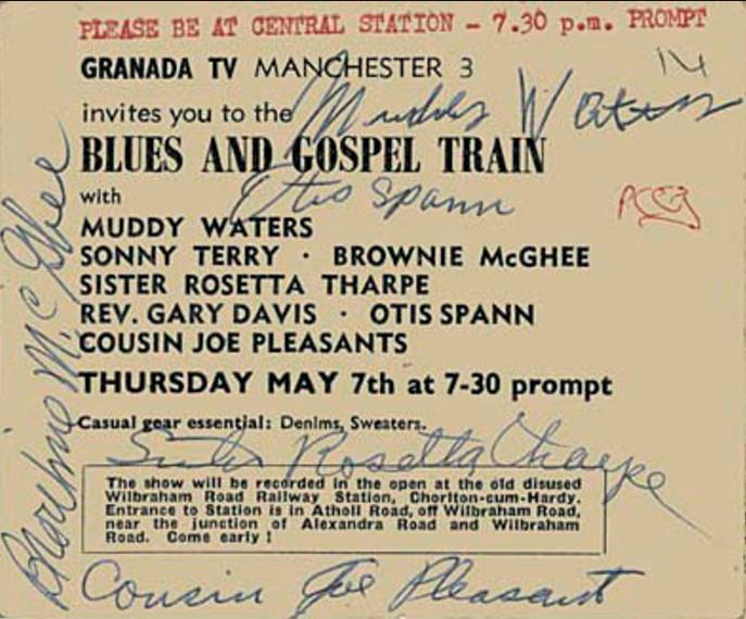 Il biglietto della serata autografato dagli artisti