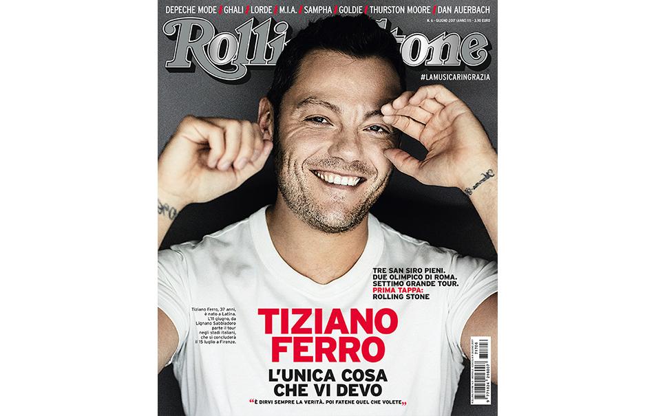 Tiziano Ferro cover Rolling Stone Giugno 2017