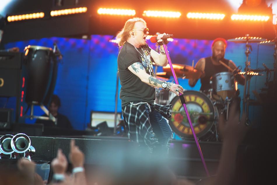 Guns N' Roses sul palco di Imola. Foto di Giuseppe Craca