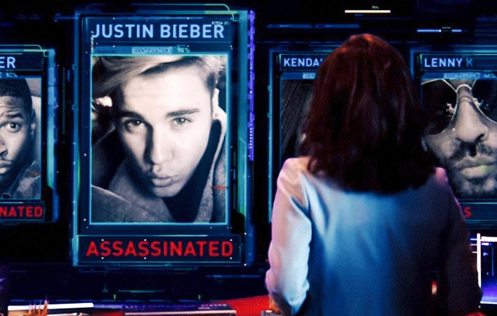 Justin Bieber in una scena di 'Zoolander 2'