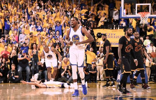 Kevin Durant, MVP della partita. Foto via Facebook