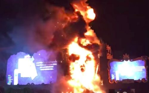 barcelona festival fire
