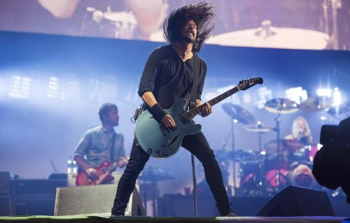 UK, Glastonbury Festival 2017 - Giorno 2 foo fighters dave grohl liam gallagher