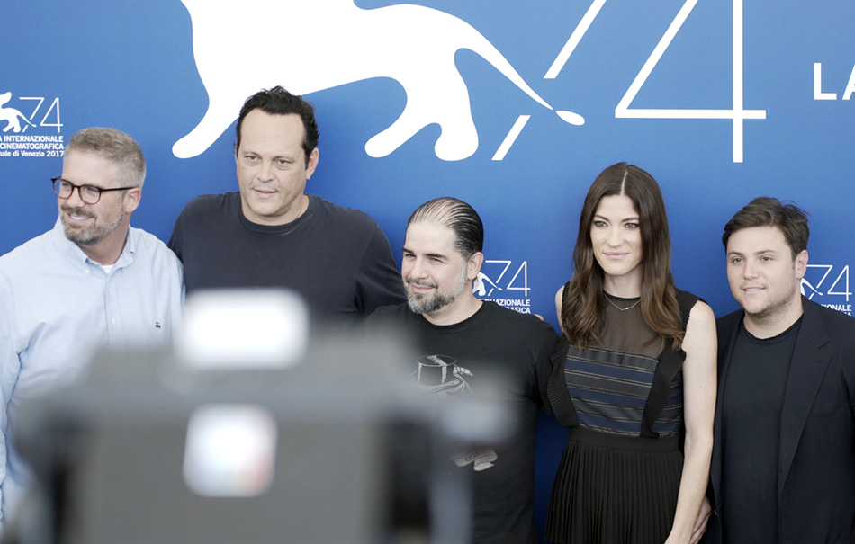 Il cast di 'Brawl in cell block 99' a Venezia 74. Credit: Guido Alberto Mattei