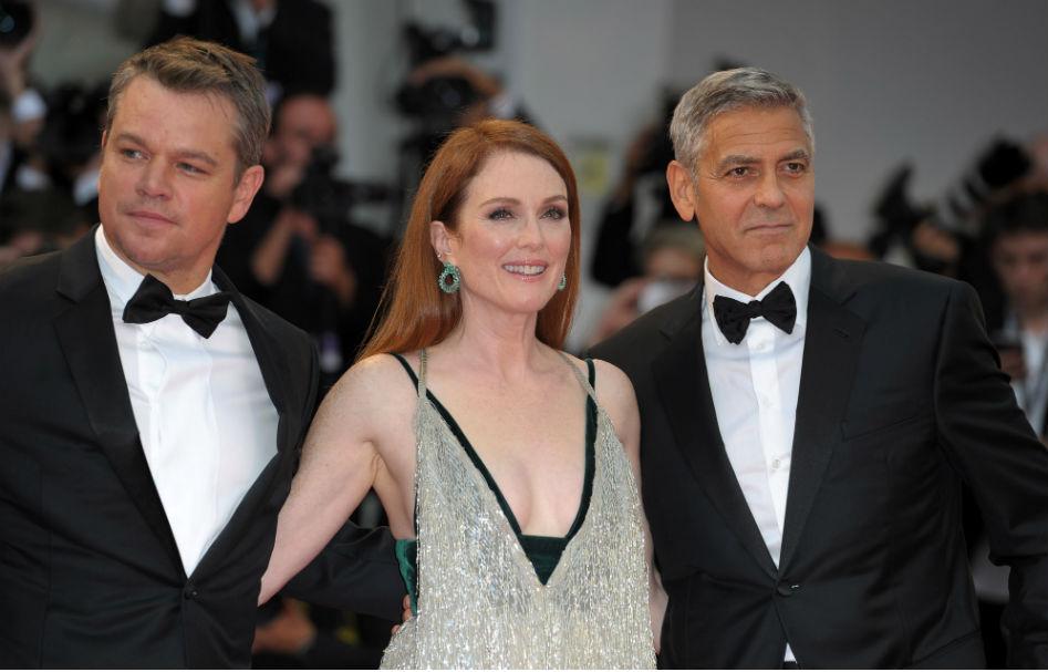 Matt Damon Julianne Moore George Clooney Venezia