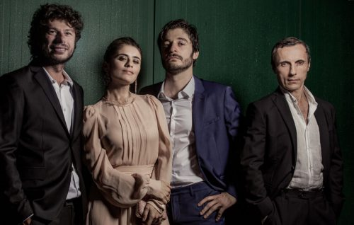 Sydney Sibilia, Greta Scarano, Lino Guanciale e Valerio Aprea scattati a Venezia 74 da Fabrizio Cestari
