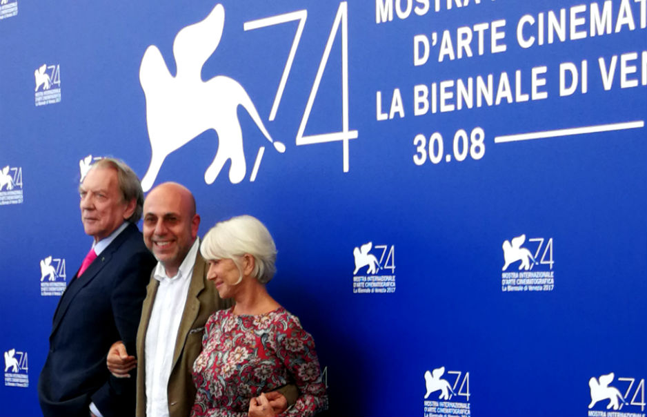 Donald Sutherland, Paolo Virzì e Hellen Mirren a Venezia 74
