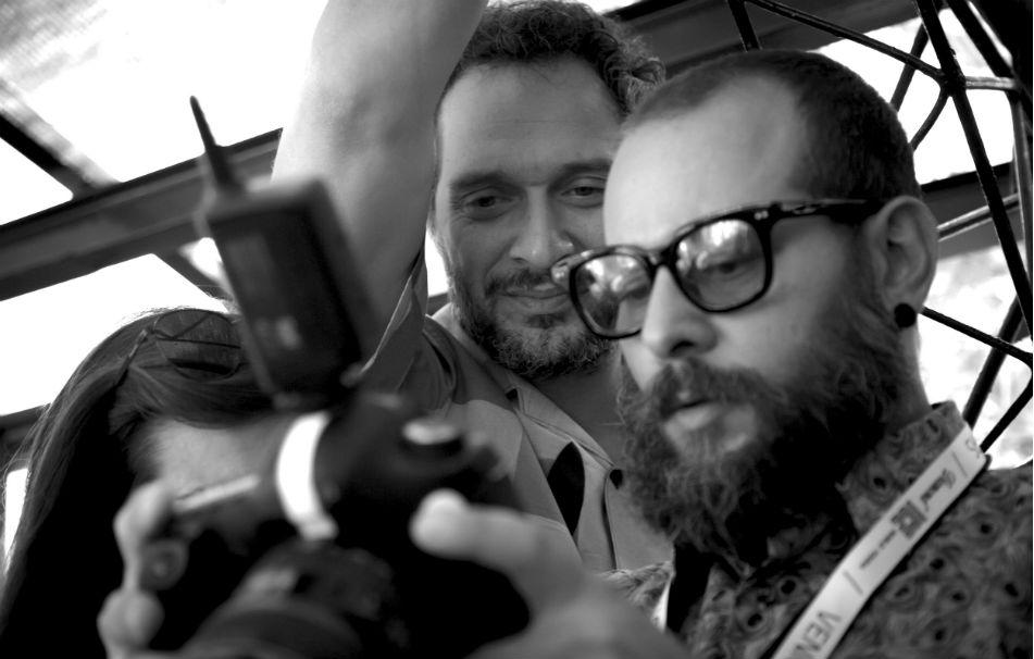 Fabrizio Cestari e Claudio Santamaria durante la 74ma Mostra del Cinema di Venezia - Foto di Andrea Picano