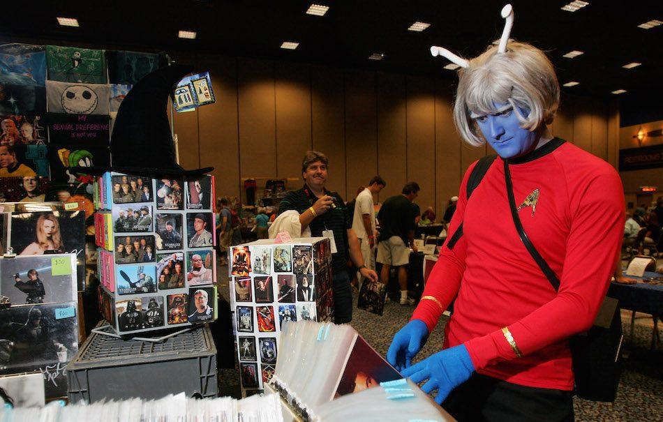 Un trekkie durante una convention a tema Star Trek. Fonte: Facebook