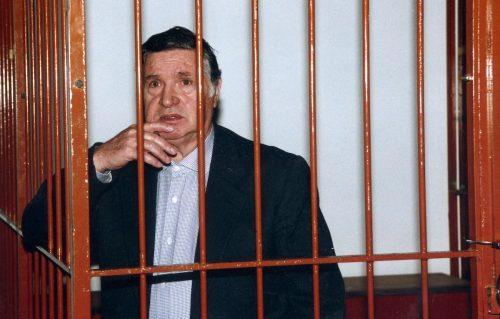 Totò Riina durante il processo Scopelliti del 1995. È scomparso a 87 anni