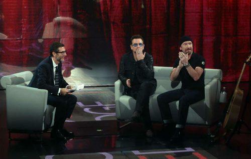 U2, Bono e The Edge stasera a 'Che tempo che fa'