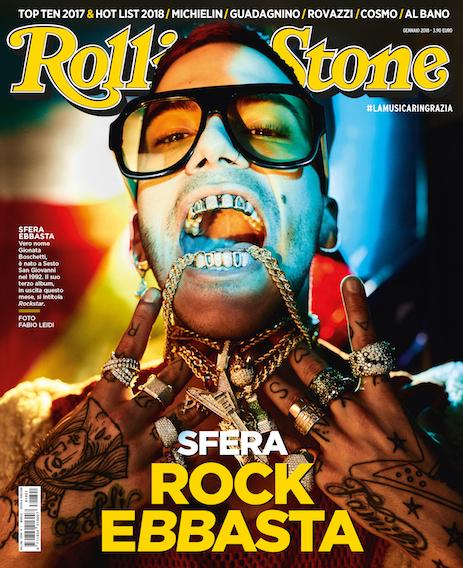 Sfera Ebbasta in copertina del nuovo numero di Rolling Stone di gennaio. Foto di Fabio Leidi