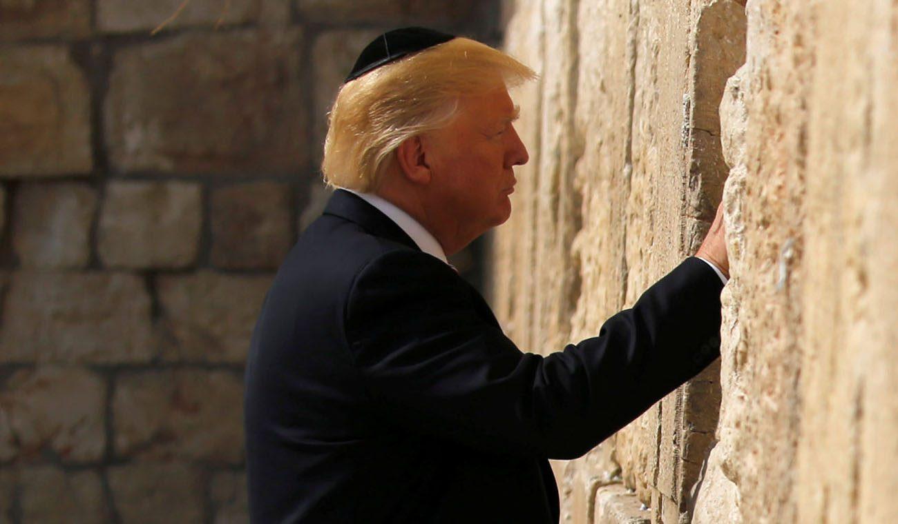 Risultati immagini per Donald Trump GERUSALEMME