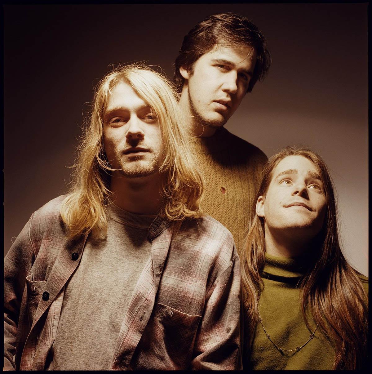 Nirvana, aprile 1990. Kurt Cobain, Krist Novoselic e Chad Channing. © Foto Michael Lavine