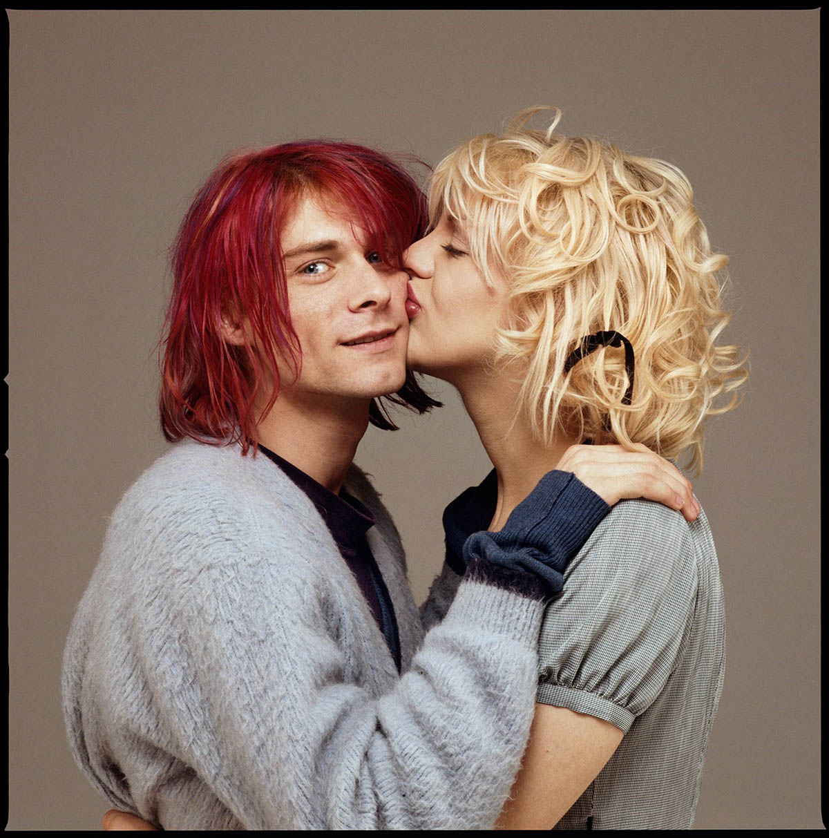 Kurt Cobain e Courtney Love, gennaio 1992 © Foto Michael Lavine