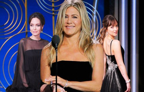 Golden Globes: Jolie vs Aniston. E Dakota Johnson si gusta la scena