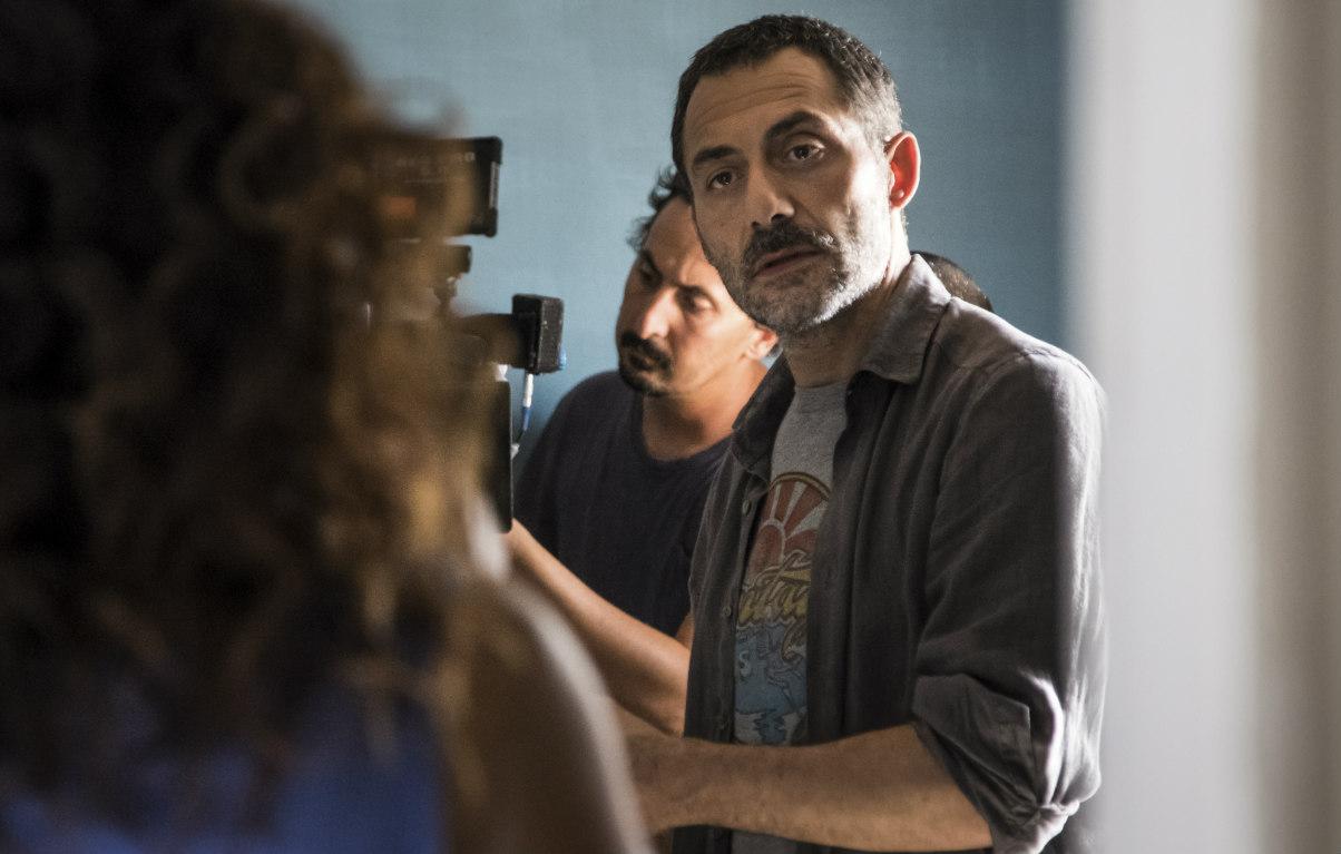 Filippo Timi sul set de 'I Delitti del Barlume'