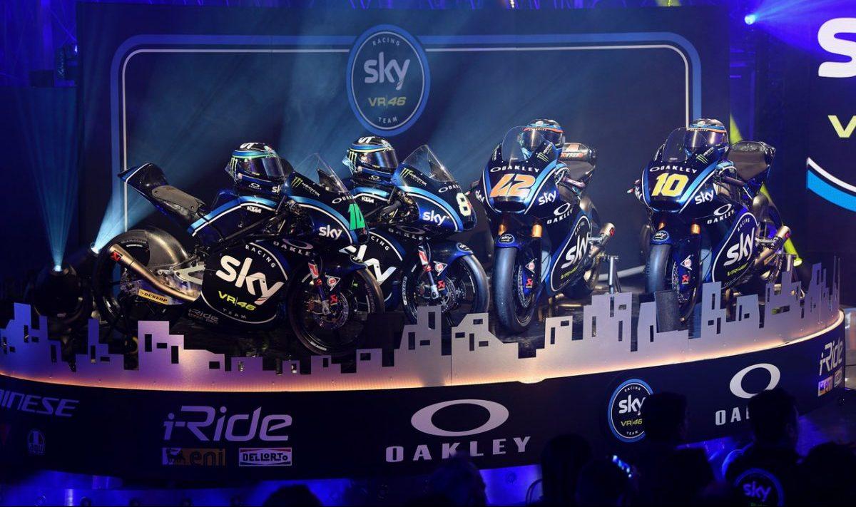 "I ""mezzi"" di Francesco Bagnaia, Luca Marini, Nicolò Bulega, Dennis Foggia, ovvero i membri dello Sky Racing Team VR46"