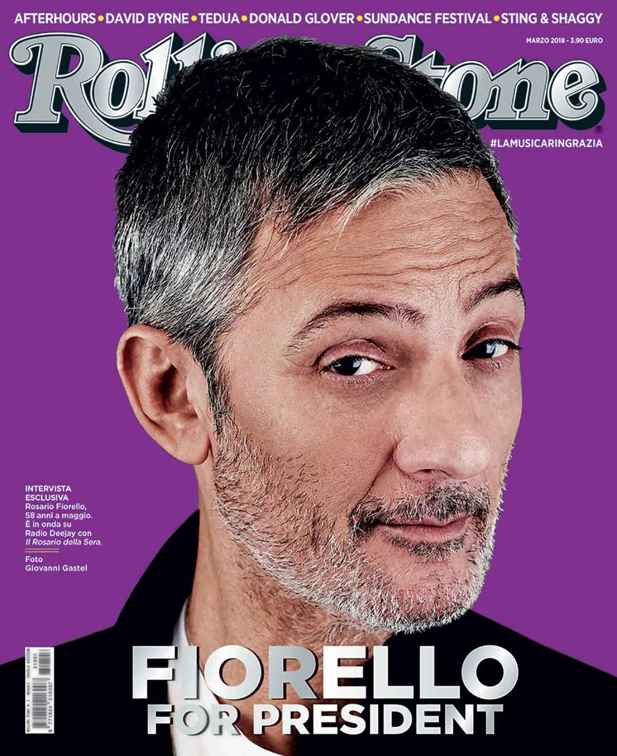 Fiorello for President . La copertina del numero di Rolling Stone in  edicola a marzo. Foto di Giovanni Gastel. e59cf9257d3b