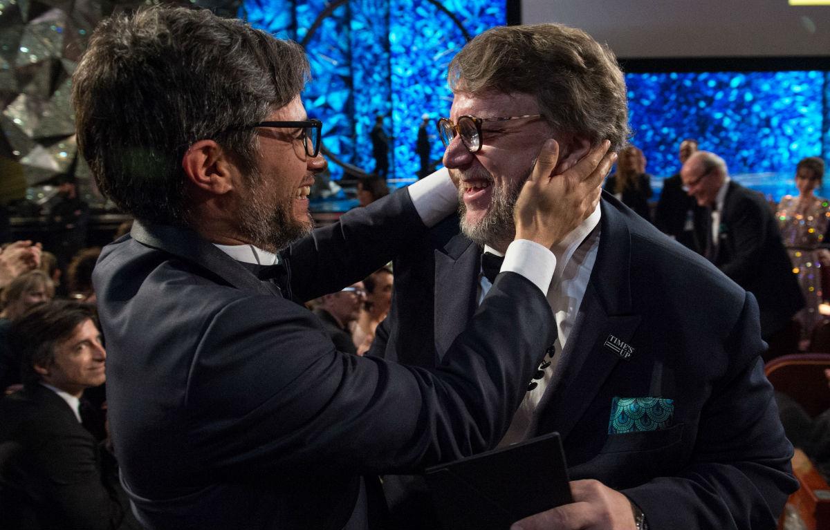 Gael Garcìa Bernal e Guillermo del Toro. Credit: Phil McCarten / A.M.P.A.S.