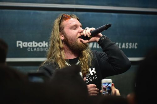 L'esibizione di Nitro durante l'evento Montana Cans x Reebok del 7 marzo scorso.