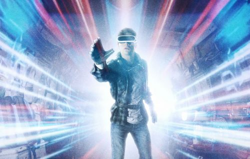 "Un dettaglio del poster di ""Ready Player One"""