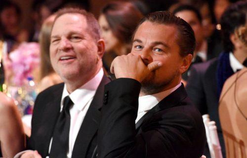 Harvey Weinstein e Leonardo DiCaprio al Galà amfAR di New York. Foto IPA