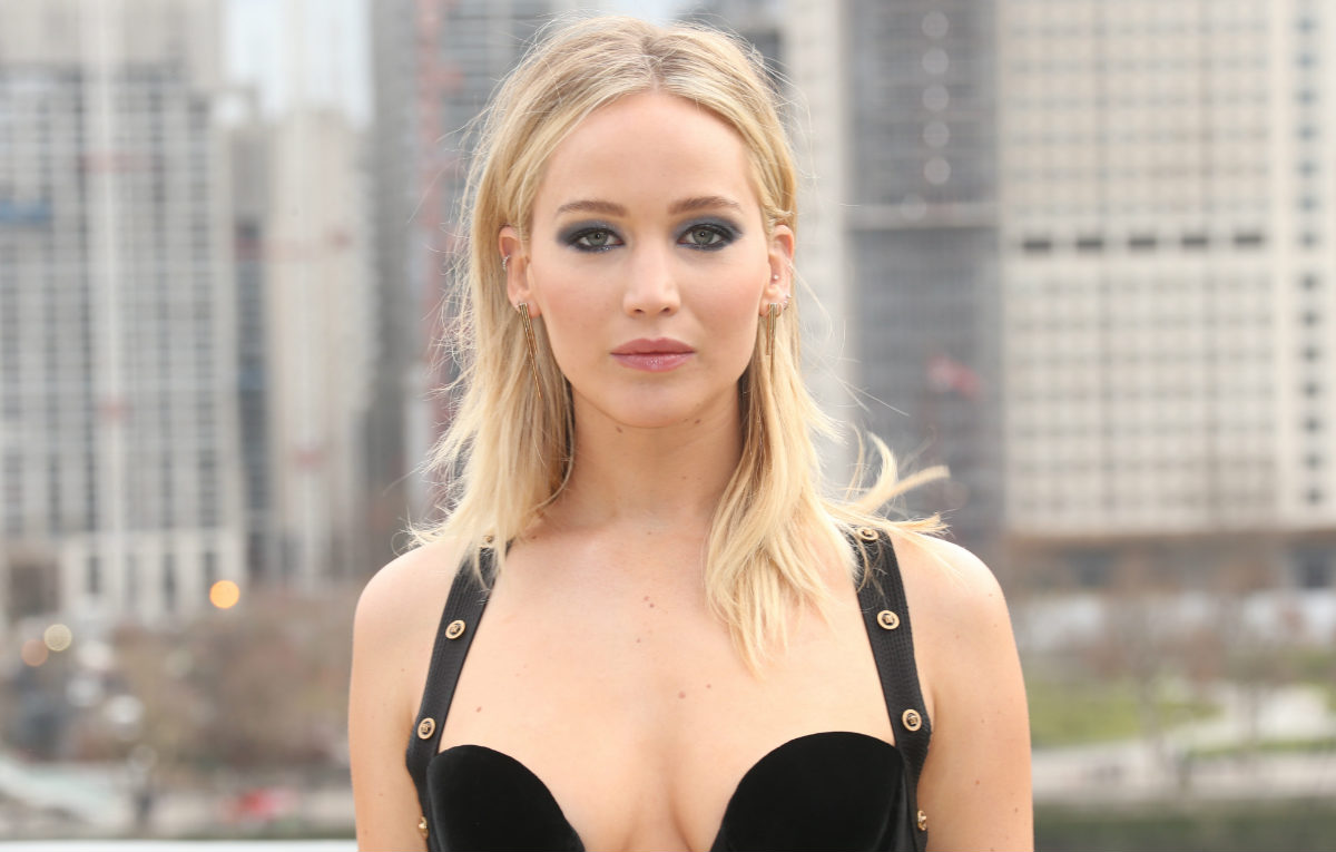 Jennifer Lawrence al photocall londinese di 'Red Sparrow'. Foto IPA
