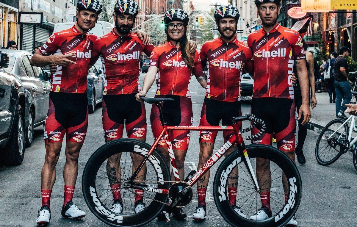 Il Team Cinelli al completo a New York. Foto: Chiara Redaschi