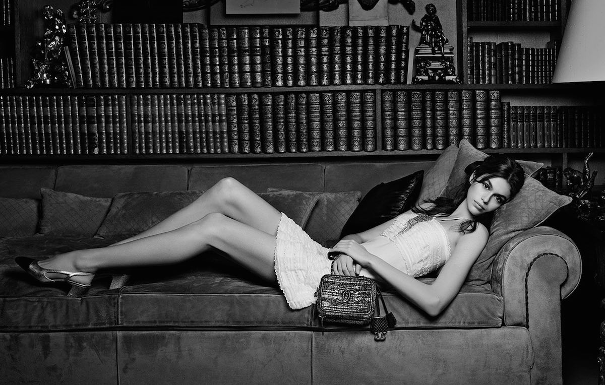 Kaia Gerber fotografata da Karl Lagerfeld per Chanel