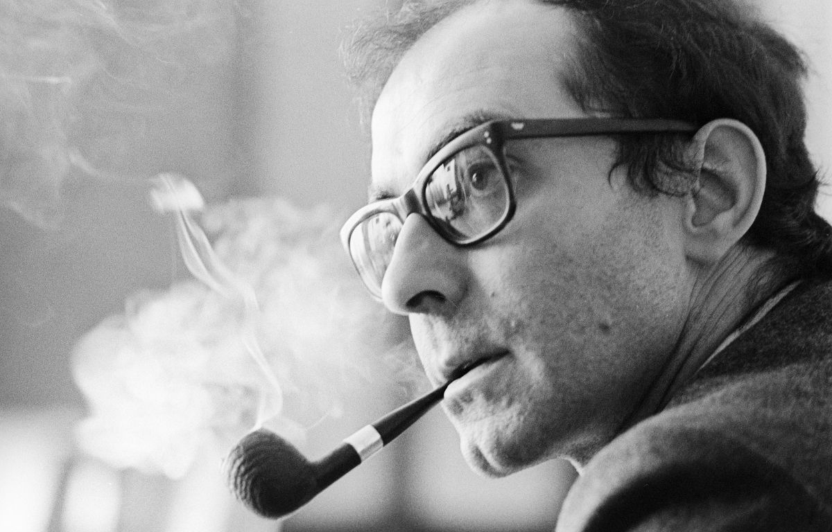 Jean-Luc Godard nel giugno del 1968 a Londra per 'Sympathy for the Devil'. Credit: Bryan Wharton / Times Newspapers Ltd / IPA