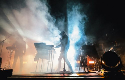 Il palco del live di Liberato. Foto: Glauco Canalis