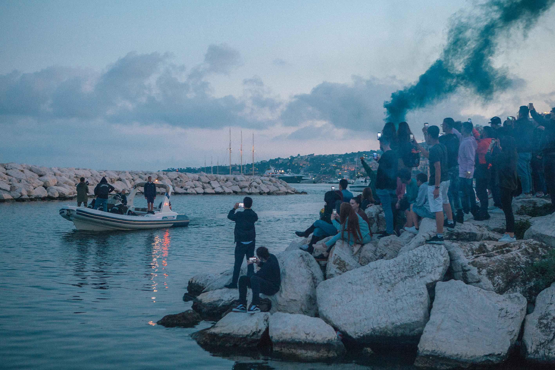 L'arrivo di Liberato. Foto: Glauco Canalis