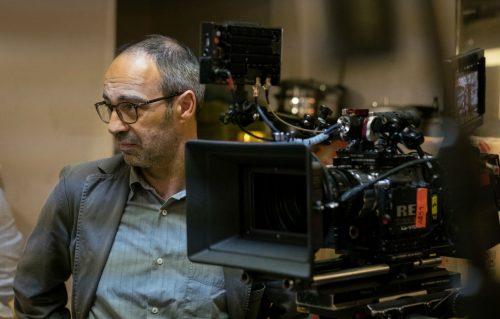 Niccolò Ammaniti sul set de 'Il Miracolo'.